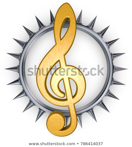 clef with prickles   3d rendering stock photo © drizzd