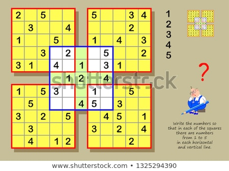 Colorful children sudoku puzzle Stock photo © adrian_n