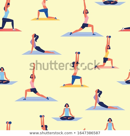 Stockfoto: Vrouw · oefenen · yoga · asian · jonge · vrouw · permanente