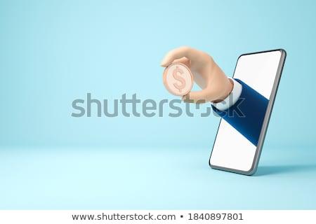 Dollár érme felirat réteges illusztráció könnyű Stock fotó © DzoniBeCool