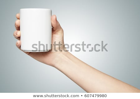 businesswoman - cupped hands stock photo © dgilder