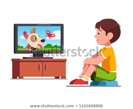 を見て · テレビ · 3D · レンダリング · 漫画 · 実例 - ストックフォト © pressmaster