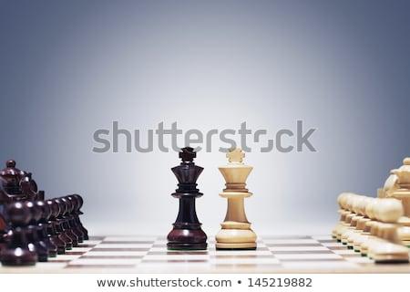 Stockfoto: Schaken · spel · koning · centrum · schaakstukken · tijd