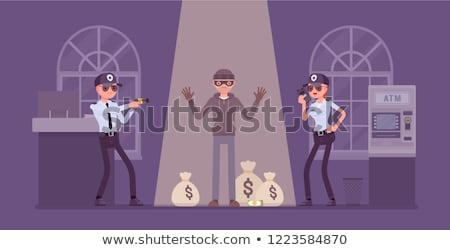 Policeman and robbers set Stock photo © bluering
