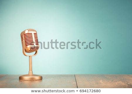 Stock photo: golden interview