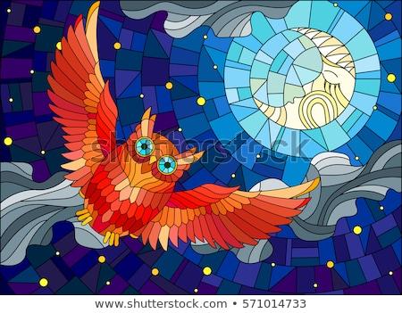 vidro · mosaico · colorido · abstrato · projeto · fundo - foto stock © blackmoon979