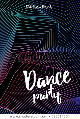 rave party music flyer template Stock photo © SArts