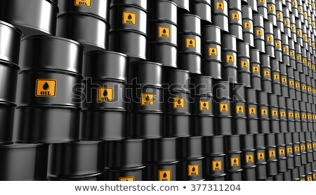 Zwarte metaal olie pompen witte 3d illustration Stockfoto © tussik