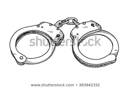 警官 · 手錠 · 車 · 正義 · 小さな · 図面 - ストックフォト © rastudio