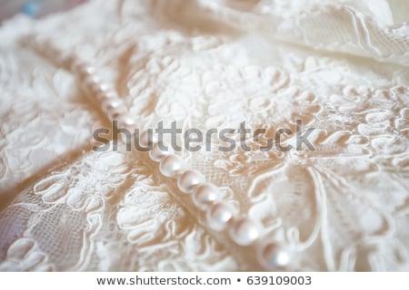 Vestido de noiva detalhes foco moda luz Foto stock © dariazu