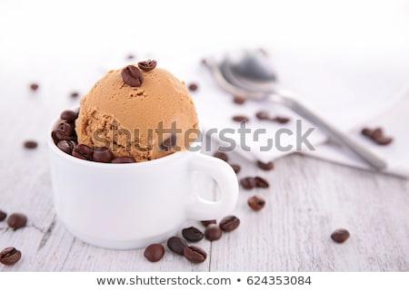 café · helado · gofre · cono · jar · rústico - foto stock © m-studio
