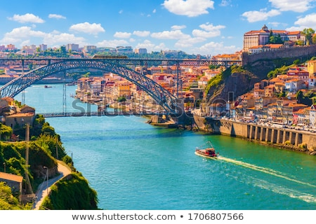 Tram on a bridge, Porto Stock photo © joyr