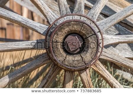 Eski bağbozumu tekerlek Stok fotoğraf © Klinker