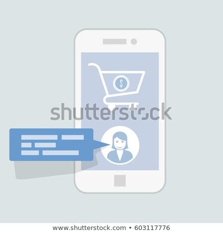 Chat ligne un message Ouvrir la interface Photo stock © gomixer