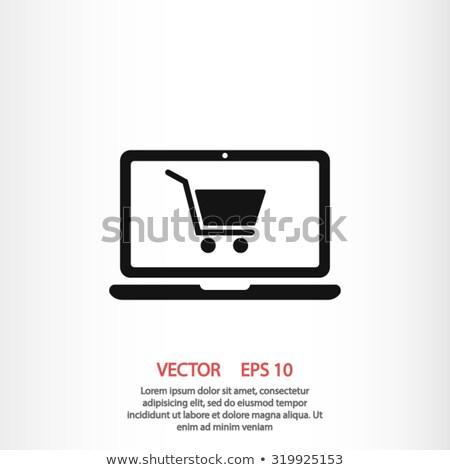 Boutique en ligne icône affaires design isolé illustration Photo stock © WaD