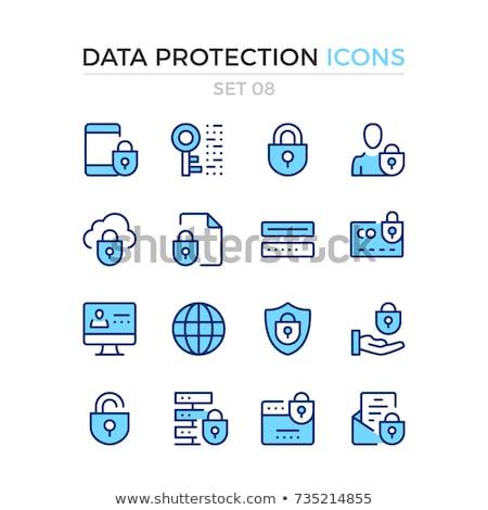 Senha proteção ícone projeto negócio isolado Foto stock © WaD
