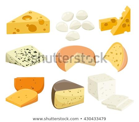 Feta Cheese Vector Illustration in Flat Design Stock photo © robuart