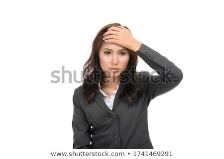 女性 頭痛 孤立した 白 顔 ストレス ストックフォト © Elnur