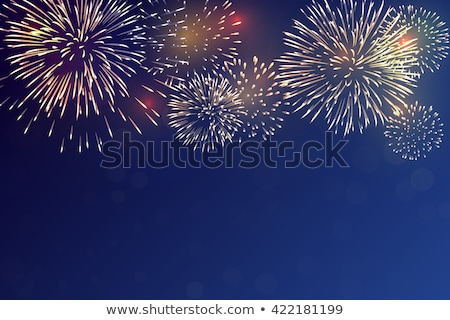 vector · vacaciones · fuegos · artificiales · feliz · año · nuevo · 2016 · cumpleanos - foto stock © fresh_5265954