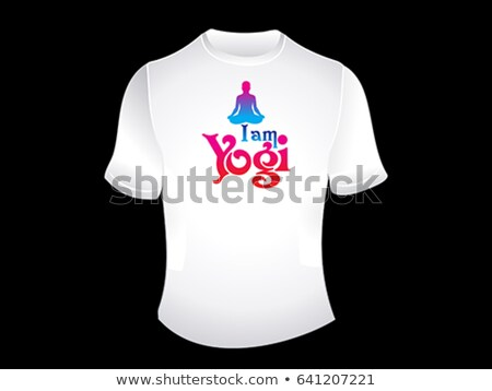 i am yogi white tshirt Stock photo © pathakdesigner