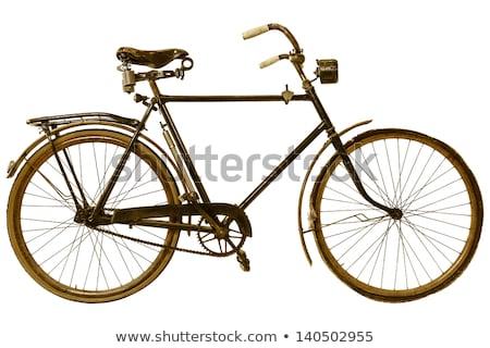 retro vintage old bikeretro bicycle isolated on white backgroun stock photo © nikodzhi