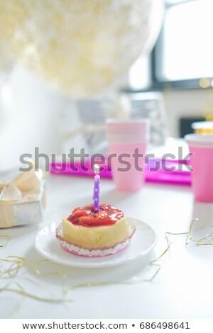 桜 · ケーキ · クローズアップ · 孤立した · 白 · 食品 - ストックフォト © sibstock