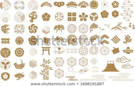 Japán hagyományos tárgyak vektor stílus szett Stock fotó © curiosity
