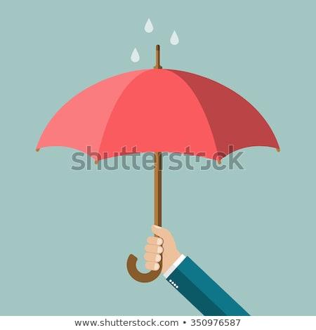 el · şemsiye · gökyüzü · sevmek · kalp · manzara - stok fotoğraf © rufous