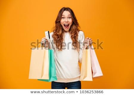 kadın · iç · çamaşırı · alışveriş · seçici · odak · sutyen · manken · şehir - stok fotoğraf © deandrobot