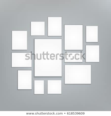 blank white 3d paper canvas vector posters mock ups presentation photography portfolio illustrati stock photo © pikepicture