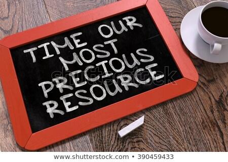 Zeit wertvolle Ressource Business Sprechblase Hand gezeichnet Stock foto © tashatuvango