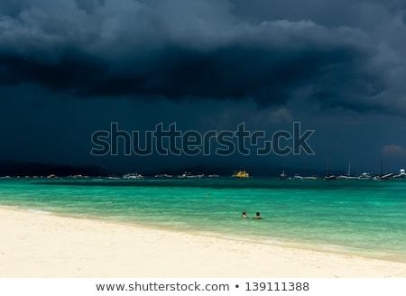 Sahil Filipinler plaj gökyüzü su Stok fotoğraf © chrisukphoto