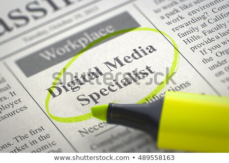 We are Hiring Digital Media Specialist. 3D. Stock photo © tashatuvango