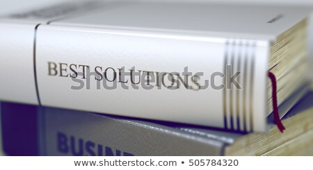 Best oplossingen boek titel 3D business Stockfoto © tashatuvango
