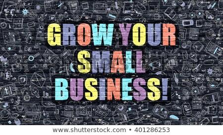 Business Goals Concept. Multicolor on Dark Brickwall. Stock photo © tashatuvango