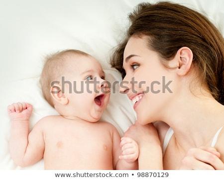 матери младенцы кровать женщину девушки любви Сток-фото © IS2