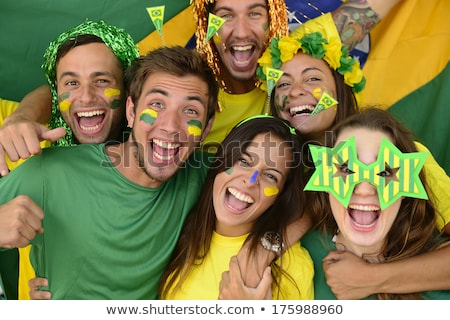 Couple smiling with Brazilian flag Stock photo © IS2