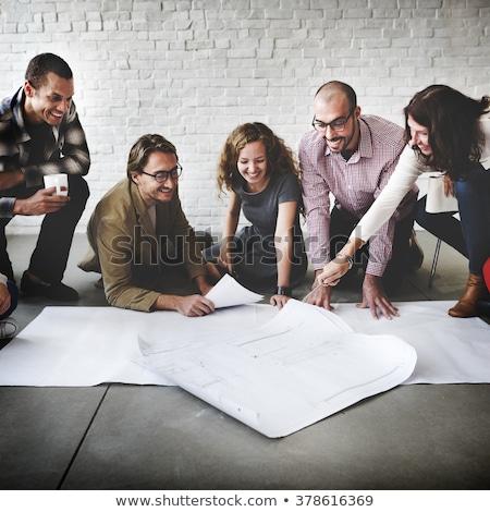 New Project on White Brick Wall. Stock photo © tashatuvango