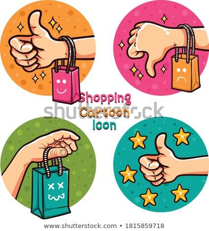 online shop   cartoon red word business concept stock photo © tashatuvango
