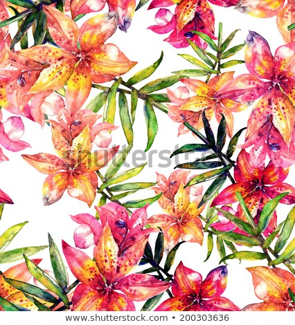Hermosa Lily pintado gráfico estilo puntos Foto stock © frescomovie