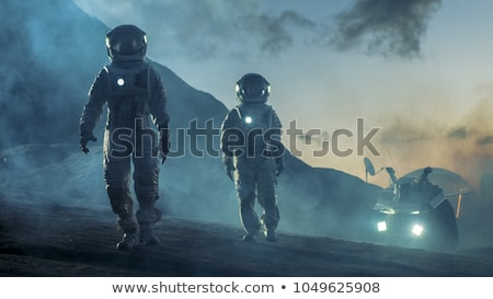 Science fiction woman astronaut hero Stock photo © rogistok