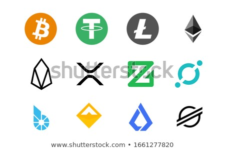 Stellar Virtual Currency Coin. Vector Coin Symbol of XLM. Stock photo © tashatuvango