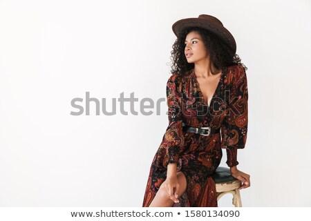 アメリカン 肖像 セクシー モデル ポーズ 服 ストックフォト © pressmaster