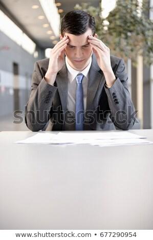 Biznesmen głowie strony portu biuro Zdjęcia stock © IS2