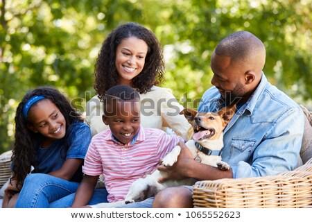 матери собаки саду женщину семьи природы Сток-фото © IS2