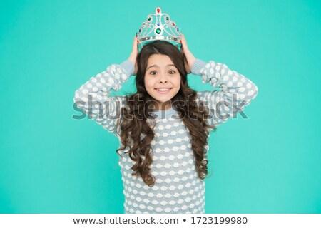 lány · visel · tiara · gyermek · női · hercegnő - stock fotó © is2