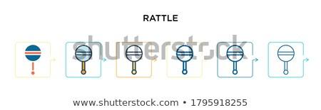 chupeta · isométrica · ícone · isolado · cor · vetor - foto stock © sidmay