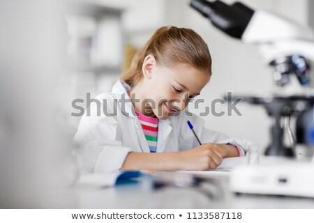 Lány kémia osztály osztályterem főiskola női Stock fotó © IS2