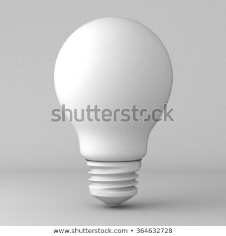 ソフト · 白 · ランプ · 電球 · クローズアップ · 典型的な - ストックフォト © bryndin