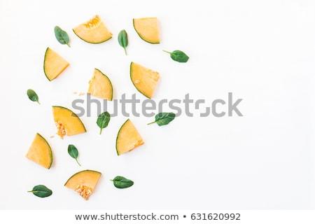 melão · grande · cortar · amarelo · isolado · branco - foto stock © m-studio